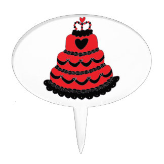 red heart cake toppers zazzle