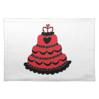 Red Hearts Gothic Cake Cloth Placemat