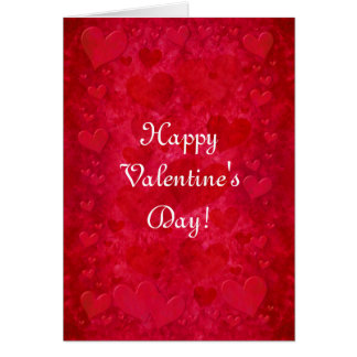 """""""Red Hearts"""" Greeting Card"""