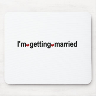 Red Hearts I'm Getting Married Mouse Pad