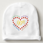 Red Hearts in a Heart Baby Beanie