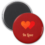 Red Hearts in Love Magnet