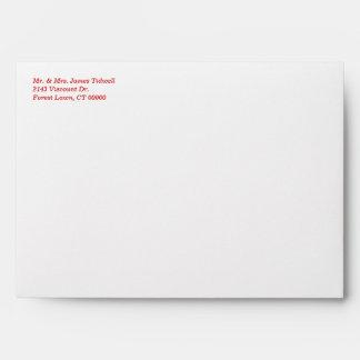Red Hearts Invitation Envelope