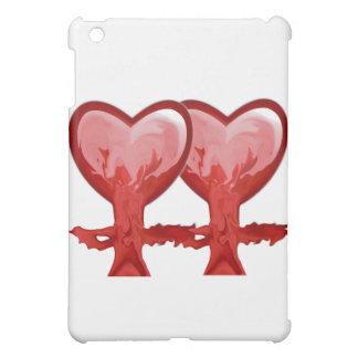 Red Hearts iPad Mini Covers
