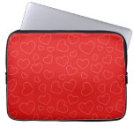Red Hearts Laptop Computer Sleeve
