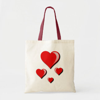 Red Hearts Love and Valentine's Day Tote Bag