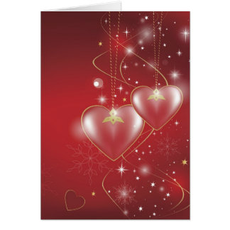 Red Hearts love relationships wallpaper background Greeting Card