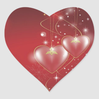 Red Hearts love relationships wallpaper background Heart Sticker