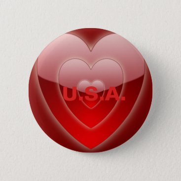 USA Themed RED HEARTS (LOVE) U.S.A. PIN