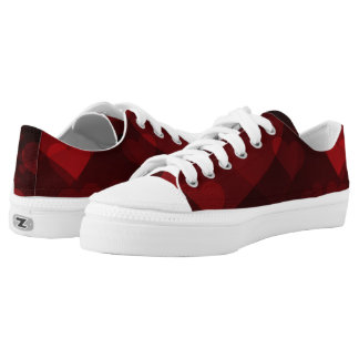 Red Hearts Low-Top Sneakers