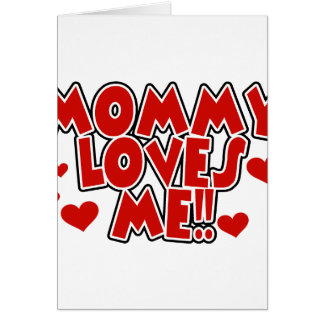 Red Hearts Mommy Loves Me Card