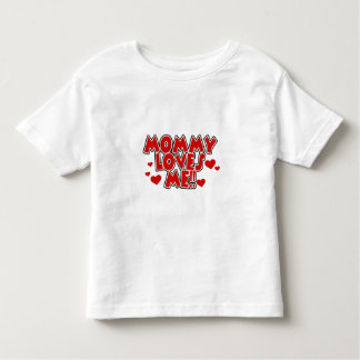 Red Hearts Mommy Loves Me Toddler T-shirt