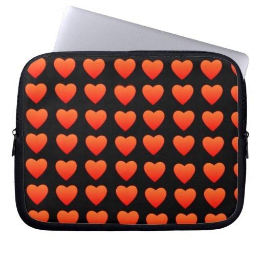 Red Hearts Neoprene Laptop Sleeve