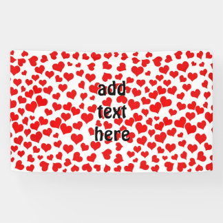 Red Hearts on Blank (Add Background Color) Banner