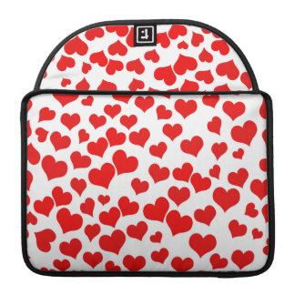 Red Hearts on Blank (Add Background Color) Sleeve For MacBooks