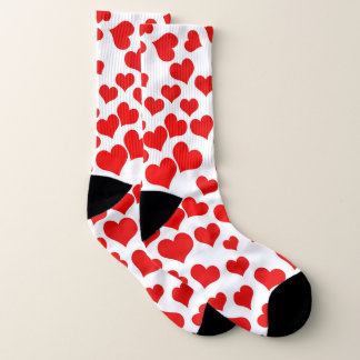 Red Hearts on Blank Socks