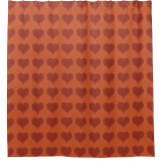 brown and orange shower curtain. Red Hearts on Orange Shower Curtain Curtains  Zazzle