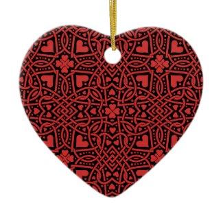Red Hearts Ornament Customizable ornament