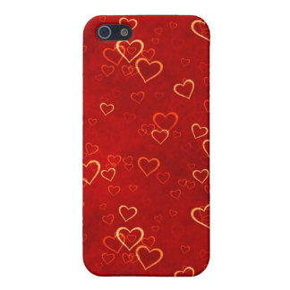 red hearts pattern cover for iPhone SE/5/5s