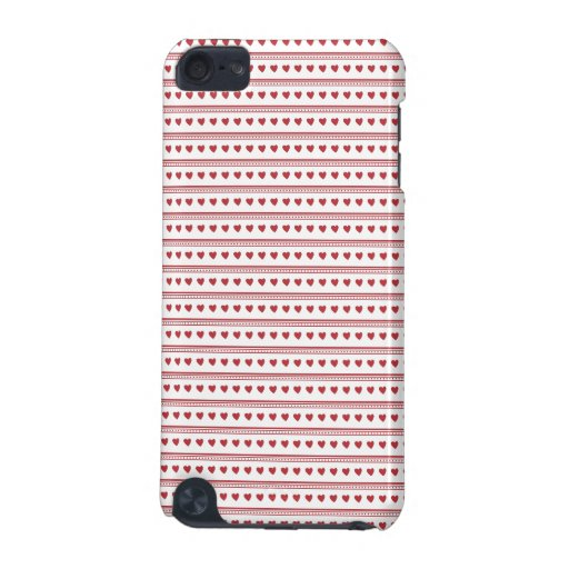 Red Hearts pattern iPod Touch Case