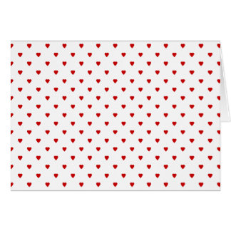 Red Hearts Pattern on a White Background. Card