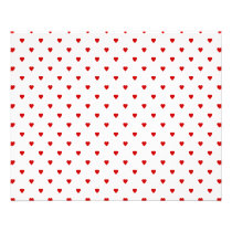 Red Hearts Pattern on a White Background. Flyer