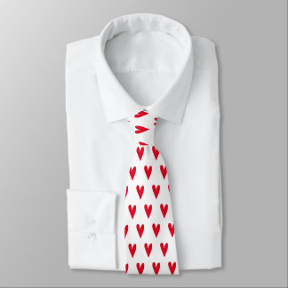 Red Hearts Pattern | Romantic Tie