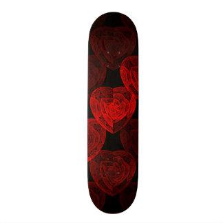 Red Hearts Pattern Skateboard