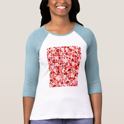 Red hearts pattern tshirts