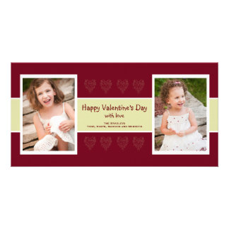 Red Hearts photo valentine card