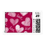 Red hearts Postage
