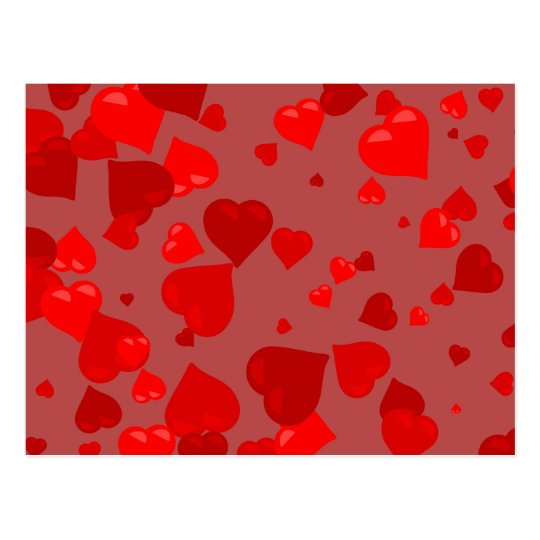 Red Hearts Postcard