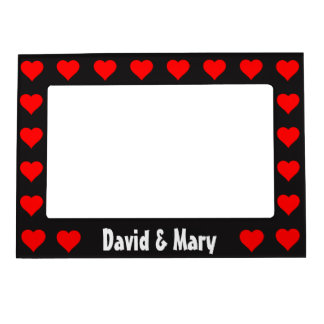 Red Hearts Romantic Valentine's Day Magnetic Frame