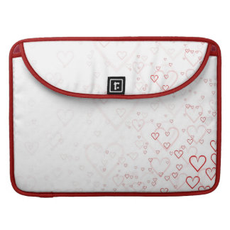 Red hearts sleeve for MacBook pro