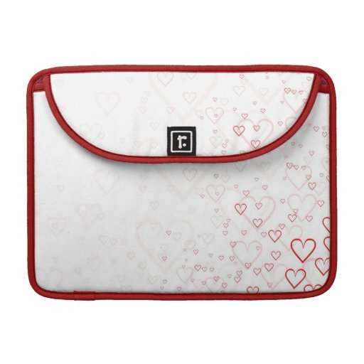 Red hearts sleeve for MacBooks