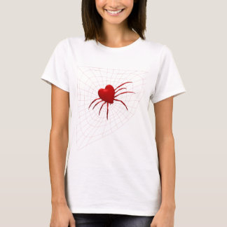 Red Hearts Spider T-Shirt