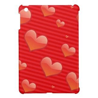 Red hearts st. Valentines day 14 February gift Cover For The iPad Mini