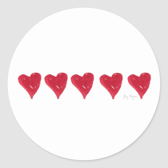 Red Hearts Sticker
