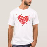 "Red hearts T-Shirt<br><div class=""desc"">Lovely red heart design.</div>"