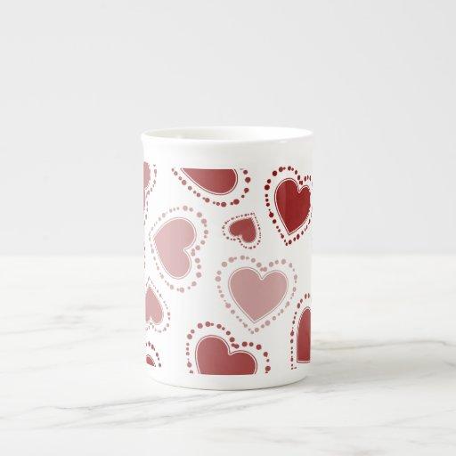 Red Hearts Tea Cup
