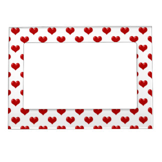Red Hearts, That's All Magnetic Picture Frame