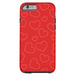 Red Hearts Tough iPhone 6 Case