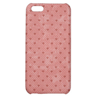 Red Hearts Valentine Heart Pattern iPhone 5C Covers