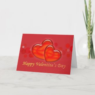 Red Hearts Valentine's Day Day Greeting Card