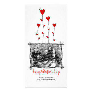 Red Hearts Valentine's Day photo card