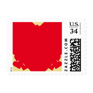 Red Hearts Valentines Day Wedding Postage Stamp US