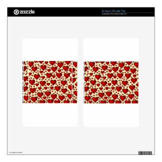 Red Hearts Valentine's Skins For Kindle Fire
