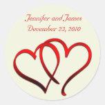Red Hearts Wedding Sticker