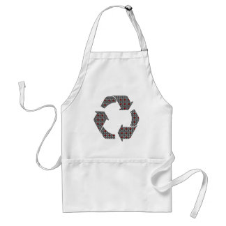 Red Hearts with Black and White Stars Adult Apron