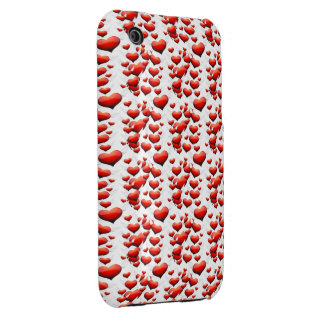 Red Hearts with Wings iPhone 3 Case